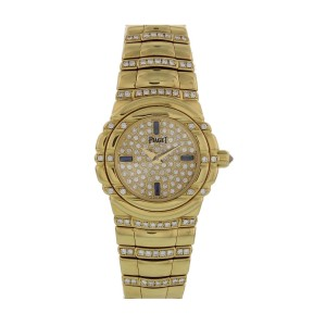 Piaget Dancer 16032 M4 02 D 18K Yellow Gold & Diamonds 25mm Womens Watch