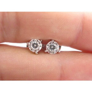 Roberto Coin 18K White Gold with 1.00ct Diamond Tulip Stud Earrings