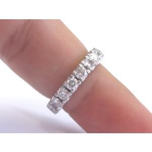 Platinum with 2ctw. Diamond Eternity Band Ring Size 6