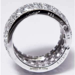 Cartier White Gold, Yellow Gold Womens Ring Size 52