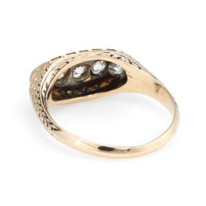 Art Deco 14K Yellow Gold with 0.50ct Diamonds Anniversary Ring Size 7.50