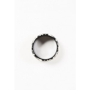 Chanel Black & Cream Resin Carved Floral Print Bangle Bracelet