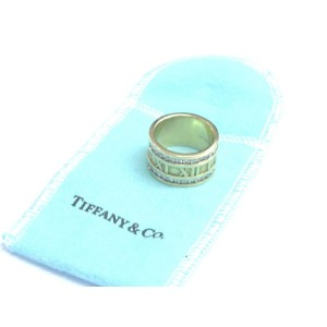 Tiffany & Co. Atlas 18K Yellow Gold with 0.84ctw Diamond Ring Size 8.5
