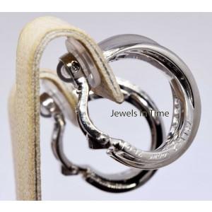 "Cartier Trinity "" Inside Out "" 18k White Gold & Diamond Earrings"