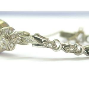 "Vintage Longine Diamond White Gold 14Kt Watch .56Ct 6.5"""