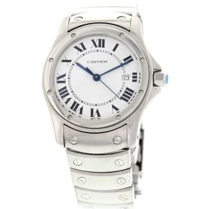 Cartier Santos Ronde Date Stainless Steel Watch 15611