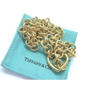 Tiffany & Co 18Kt Yellow Gold Heart Link Pendant Necklace 16.5""
