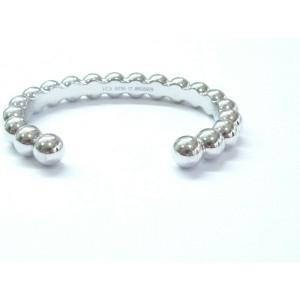 Van Cleef & Arpels 18Kt Perlee White Gold Cuff Bracelet 9.3mm