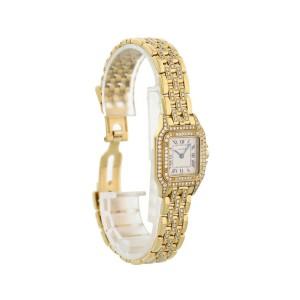 Cartier Panthere 128000 M 18k Yellow Gold Ladies Diamond Watch