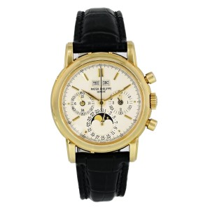 Patek Philippe Grand Complications 3970J  Perpetual Calendar Chronograph Mens Wa