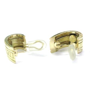 Tiffany & Co 18Kt Atlas Yellow Gold Huggie Earrings 1.25""