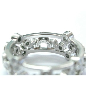 Tiffany & Co Platinum Bubbles NATURAL Diamond Ring 1.20Ct Sz 4.5