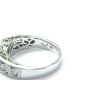 Simon G 18Kt Diamond White Gold Semi Mount Engagement Ring .06Ct