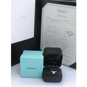 Tiffany & Co Platinum Round Diamond Solitaire Ring 1.61Ct I-VS1 TRIPLE EXCELLENT