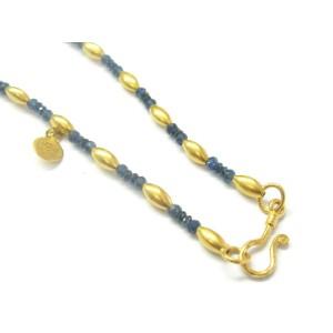 """Gurhan 24Kt Gold & Sapphire Necklace 16"""""""