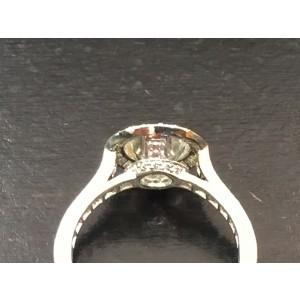 Tiffany & Co Platinum Bead Border Set Diamond Engagement Ring 1.37Ct+.55Ct HVVS1