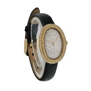 Cartier Baignoire 7743 Yellow Gold Diamond Dial Ladies Watch