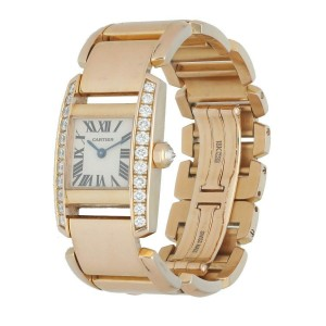 Cartier Tankissime 2801 18k Rose Gold Quartz Ladies Watch
