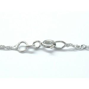 "18Kt Black Pearl & Diamond Pendant White Gold Necklace 18"" 1"" 9mm .16Ct"