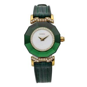 Century 19249 Diamond & Emerald 18K Yellow Gold Ladies Watch