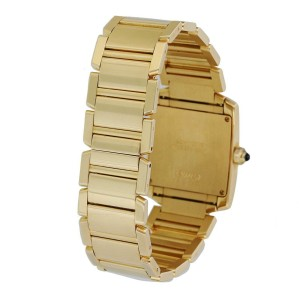 Cartier Tank Francaise 1820 Yellow Gold Ladies Watch