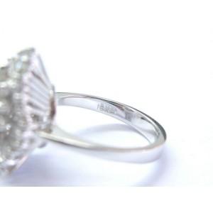 18Kt Gem Ruby Diamond White Gold Mushroom Jewelry Ring 1.79Ct