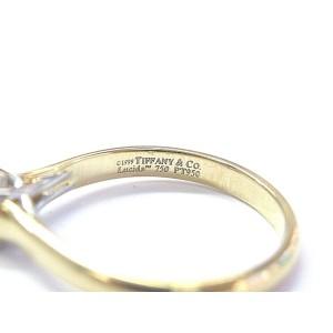 Tiffany & Co Lucida Diamond Engagement Ring 18Kt Yellow Gold .39Ct F-VS1
