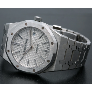 Audemars Piguet Royal Oak White Dial Stainless Steel Watch -15400ST.OO.1220ST.03