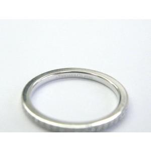 Tiffany & Co Platinum Full Circle Diamond Eternity Band Size 4.5 .10Ct PT950