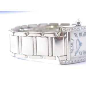 Cartier 18Kt Tank Francaise Diamond Bezel Ladies White Gold Watch 2403