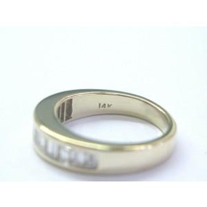 Fine Baguette Diamond Yellow Gold 12-Stone Band Ring .80Ct G-VVS2