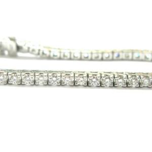 "Round Diamond Tennis Bracelet 18Kt White Gold 52-Stones 4.00Ct 7"""