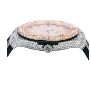 HUBLOT CLASSIC FUSION 511.NX.1171.LR 45MM DIAMOND DIAL LEATHER BRACELET-ICED OUT