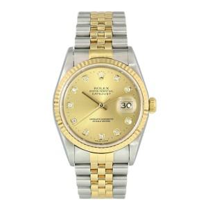 Rolex Datejust 16233 Diamond Dial Men Watch Box Papers