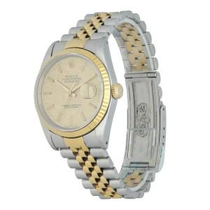 Rolex Datejust 16233 Linen Dial Mens Watch
