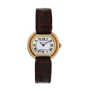 Cartier Paris Ellipse Gondole 18k Yellow Gold Ladies Watch