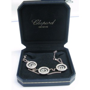 Chopard 18Kt Happy Spirit 3-Circular Diamond Bracelet