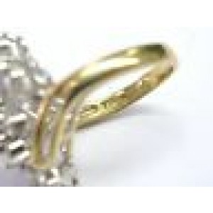 Fine Round Cut Diamond Flower Cocktail Jewelry Ring Yellow Gold 1.96CT