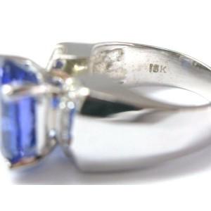 18KT NATURAL Gem Tanzanite Diamond Anniversary SOLID White Gold Ring 8.90CT
