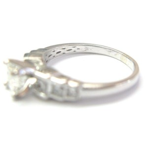 Princess Cut Diamond Engagement Ring Solid White Gold 14Kt H-VS2 1.15Ct SIZEABLE