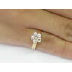 22KT Circular Diamond Flower Jewelry Ring ROSE GOLD .65CT