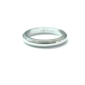 Tiffany & Co Platinum Milgrain Wedding Band Ring Size 5.5 3mm
