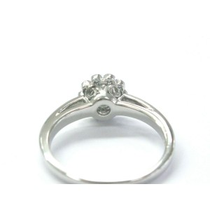 Tiffany & Co Platinum Diamond Flower Ring .35CT
