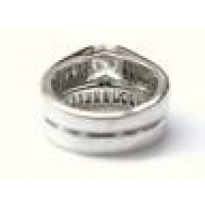 Fine Round & Baguette Diamond White Gold Wedding Set 2.28C GIA F-VS2