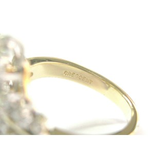 Diamond Floral ByPass Ring 18Kt Yellow Gold 2.20Ct F-VS1