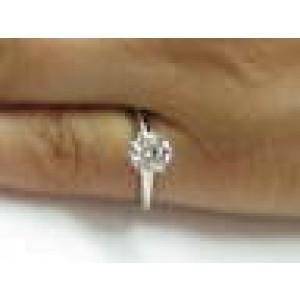 Tiffany & Co Platinum Round Diamond Solitaire Engagement Ring 1.26CT D-VS1