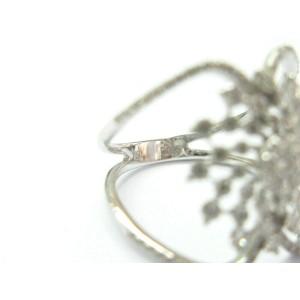 Cluster Diamond Split Shank Ring 18Kt White Gold .95Ct F-VS1