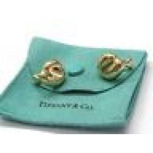 Tiffany & Co Elsa Peretti 18Kt Bean Huggie Yellow Gold Earrings 16mm