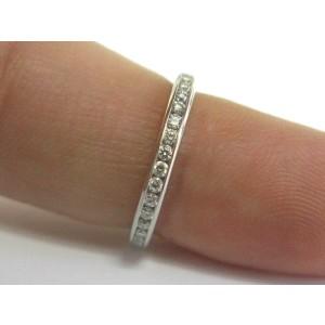 Tiffany & Co Full Circle Diamond Eternity Band 2.5mm .56Ct Size 4.5