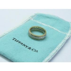 Tiffany & Co Platinum/18Kt Diamond Wedding Band .64Ct Size 5